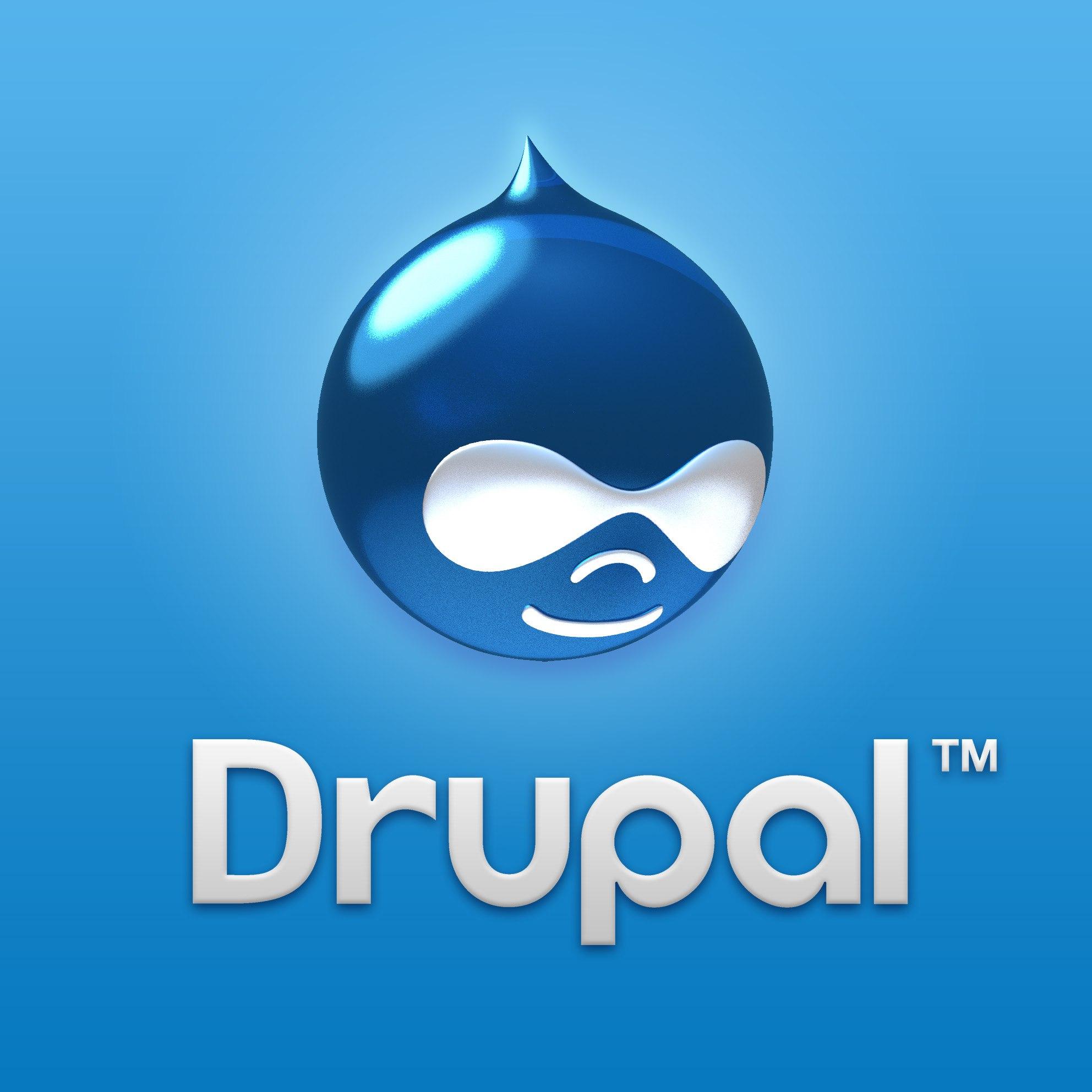 картинка: значок Drupal